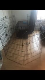 dog cage and pen