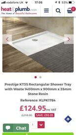 1400 x 900 shower trays (2 available) BRAND NEW