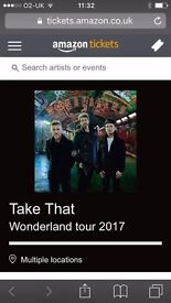 Take that tickets x 2 VIP seated Carrow Road