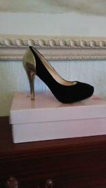 NEW Black/Gold heels Sz 4 £10