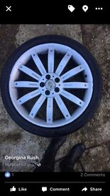 Alloys and tyres 22in Range Rover sport overfinch