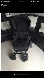 Britax B Smart pushchair, britax car seat and isofix base