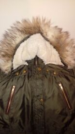 Womans parka coat
