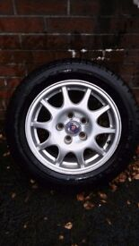 Saab Alloys - 93 Convertible - 10 spoke - Set of 4 - Excellent condiition -