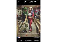Ladies joker Halloween costume size 8-10