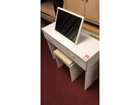cheval mirrored dressing table off white