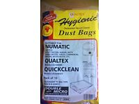 HENRY, NUMATIC, VACUUM CLEANER DUST BAGS, pack of 10 bags FREE pick up or delivery, paypal accepted