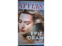 Kate Winslet Cover & 4 Page Interview Stylist Magazine Excellent Condition