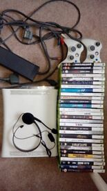 Xbox 360, 27 Games & Steering Wheel - £80