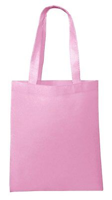 Lot 50 Tote Bag Reusable Pink Shopping Grocery Travel Cheap Bulk Wholesale NEW