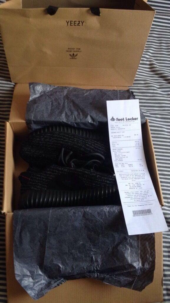 Adidas yeezy impulso 350 pirata nero con scatola nuova di zecca