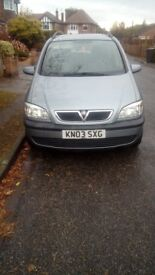 Vauxhall Zafira 1.6 Manual
