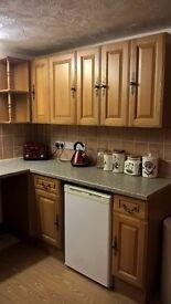 Oak front kitchen units, available week ending 9 December