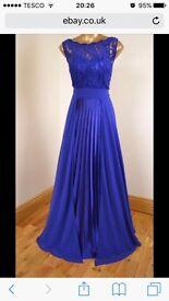 Blue lace maxi Ball/prom/bridesmaid dress