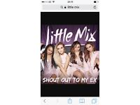 2x little mix tickets for Friday 14th July. They are golden circle standing tickets.