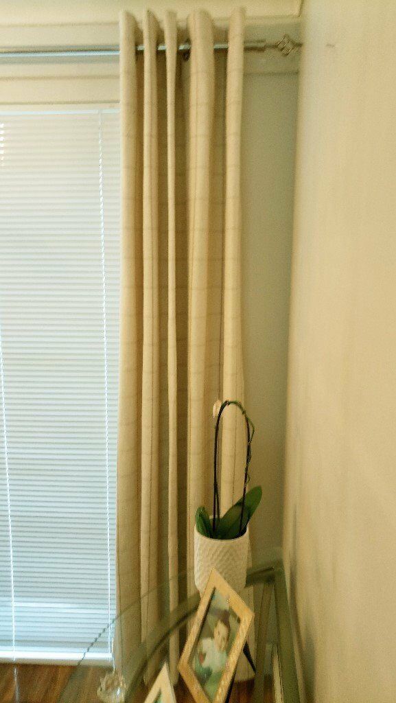 Next Lounge Dining Room Curtains Colour Natural Check
