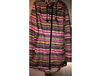 Ladies Showerproof Parka with hood size Medium 10/12/14 - perfect condition worn once