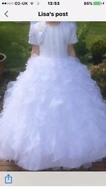 **STUNNING GABYS COMMUNION DRESS WITH MATCHING ACCESSORIES ** MINT CONDITION **£350.00 ONO!!!
