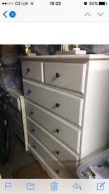 Solid pine drawers shabby chic
