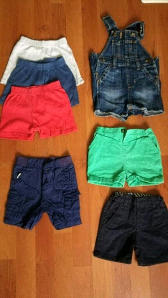 Boys shorts x7 size 3-6 months