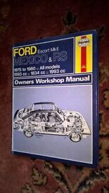 Ford Escort MK2 RS/Mexico Haynes workshop manual
