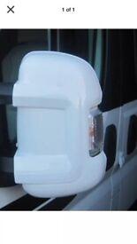 White motor home mirror protectors