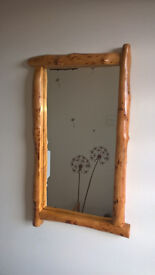 Wooden handmade mirror