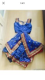 Electric blue saree