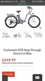 Cyclamatic step through from sportsfx