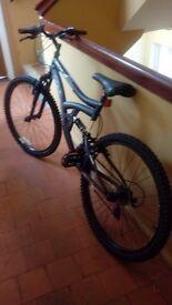 Hyper dual suspension bike