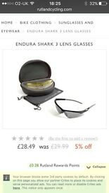 Endura shark glasses 3 cycling