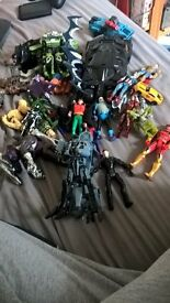 transformers,marvel,dc and power rangers toys for sale