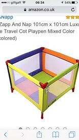 Isafe Zapp and nap playpen/travel cot