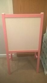 ikea pink white and chalk board