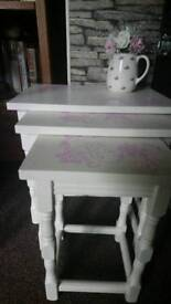 Beautiful shabby chic vintage nest of tables