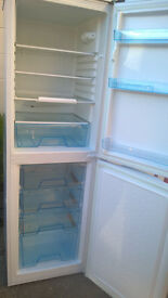 LOGIK 6FT FRIDGE FREEZER IN WHITE. VGC, DELIVERY POSSIBLE.