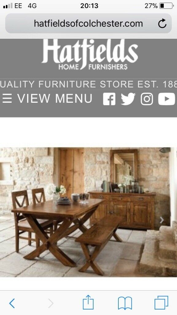 Hatfields Dining Table And Chairs For Sale