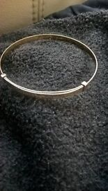 9ct gold babys bangle