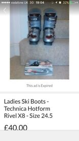 Ski boots - Ladies Technica Hotform Rivel XS - size 24.5