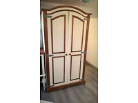 Rustic solid pine wardrobe - chalk paint and pine