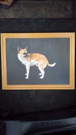 Painting of Dog by Nikki Hill