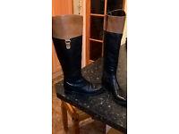 Ladies Black / Tan Riding boots