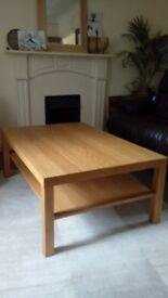 Ikea coffee table large light oak