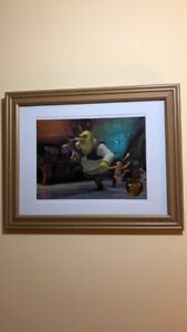 Disney Shrek Framed Lithograph With Certificate Of Authenticity