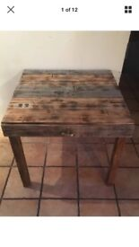 Reclaimed industrial pallet table