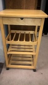 Kitchen trolley table / storage with wine rack