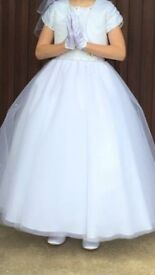 Stunning white communion dress fit for a princess