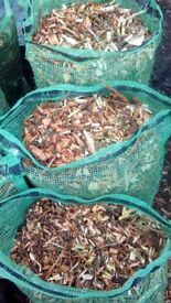 Mulch / Woodchip large 30 litre nets. Great ground cover and weed supressant.