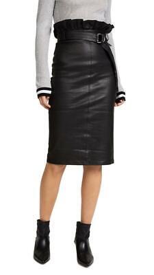 MODERN FLIRTY! J Brand Claudia High-Waist Leather Midi Skirt size XS, S, M, L