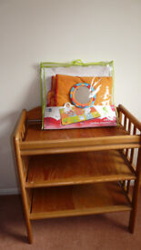 Wooden Changing Table and Safari Jumbo Playmat